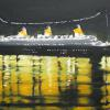 'Queen Mary Reflections' 18 X 20 oil on Canvas Framed $225