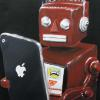 'Red Robot' Oil on Canvas 12 X 12 Gallery Wrap $100